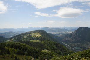 Die Aussicht vom Col de Parquetout in richtung Valbonnais